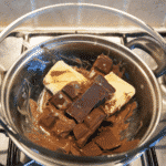 chocolate melting in a bain marie