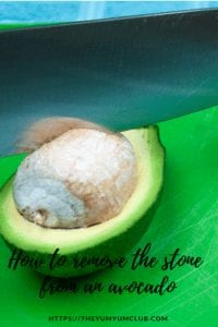 how to remove a stone from an avocado