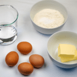 Choux pastry ingredients