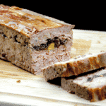 Duck, pork, cranberry and pistachio terrine. A wonderful recipe for your Christmas table. Very festive and a great appetiser before the turkey. Learn how to make this irresistible rustic farmhouse terrine. Yum Yum!! | theyumyumclub.com