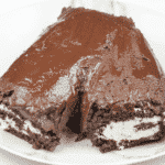 Christmas is here and it's time to start baking. How about a Yule Log? Festive chocolate bliss & the kids can help! I'll show you how with this easy recipe. | theyumyumclub.com