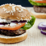 Lamb burgers are a great alternative to the traditional beef burger, and far tastier. Make them at home in no time. Try in a brioche bun with tzatziki. Yum! | theyumyumclub.com