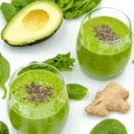 Avocado and spinach detox smoothie. But why detox? Because of the superfoods of ginger and chia seeds! All washed down with almond milk and honey. Yum!   theyumyumclub.com