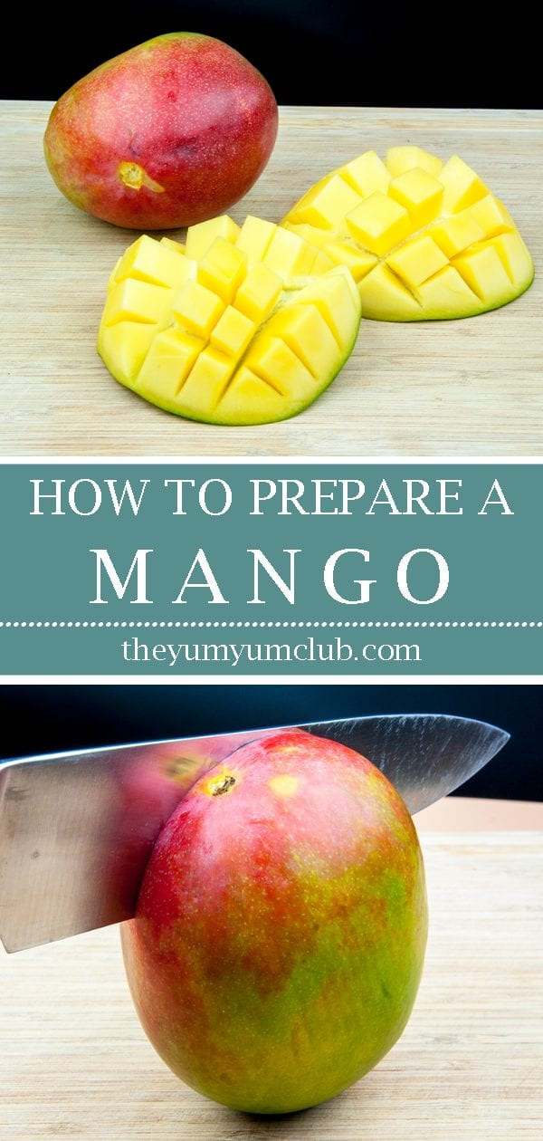 Ever wondered how to prepare a mango like in those wonderful tropical fruit displays you see at fancy buffets? It's easy. Just follow this simple tutorial... | theyumyumclub.com