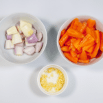 Prepare the ingredients for the salald | https://theyumyumclub.com/2019/04/22/braised-carrot-pearl-barley-salad/