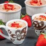 Greek yogurt chocolate hazelnut mousse is a delicious and healthy alternative to ice cream. Finish that dinner part without a guilty conscience! Yum! 😋