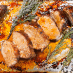 This honey soy pork tenderloin recipe is a magnificent fusion of flavours from east and west. Honey, soy, thyme, rosemary, garlic. It has them all and more! Yum!