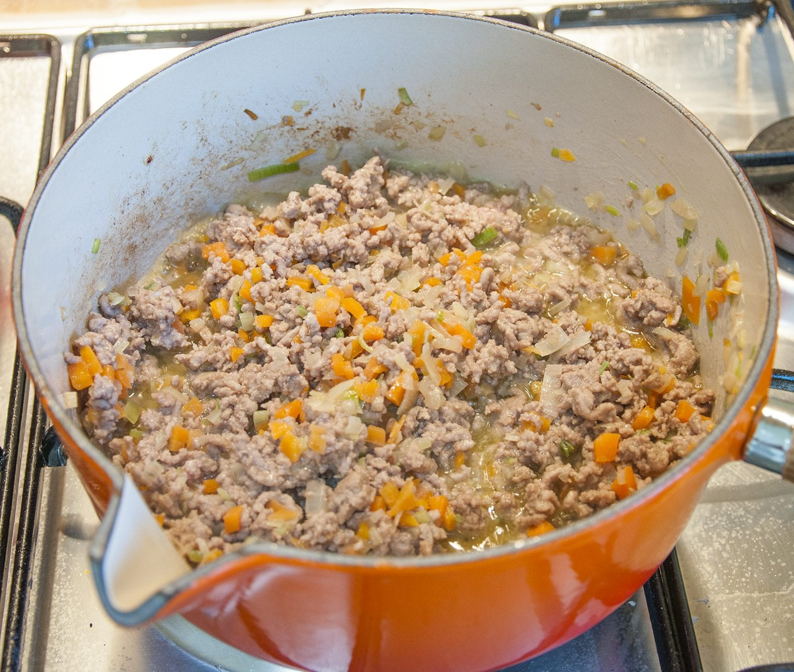 Cheddar topped shepherd's pie. Cook the minced lamb