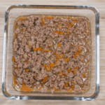 Cheddar topped shepherd's pie. Spoon into the baking dish