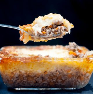 Cheddar topped shepherd's pie. | https://theyumyumclub.com/2019/05/16/cheddar-topped-shepherds-pie/