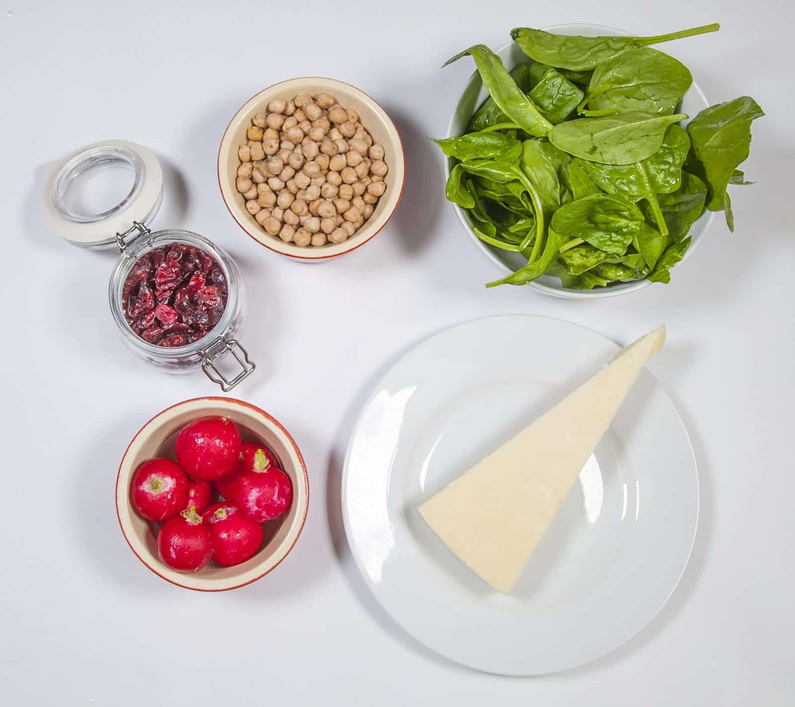 Gather the ingredients together | https://theyumyumclub.com/2019/06/18/moroccan-chickpea-salad/