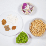 Gather the ingredients together | https://theyumyumclub.com/2019/07/05/falafels-fit-for-the-pharaohs/